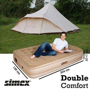 High Peak Smooth Comfort Queen luchtbed inclusief elektrische luchtpomp 40052